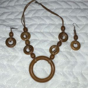 Other - Wooden Jewelry - matching necklace and earrings